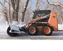 装载机式人行道扫雪机